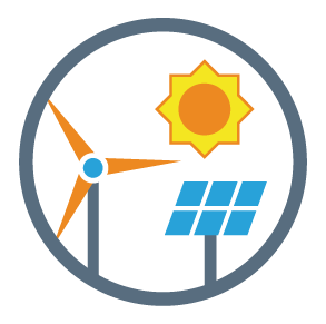 Develop Renewable Energy Icon